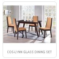 COS-LYNN GLASS DINING SET